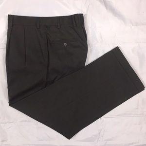 Bill Blass Select Sz.32 Brown Wool Pleated Pants